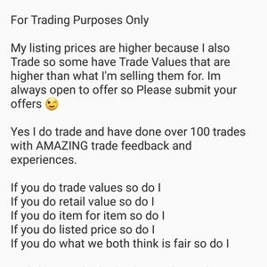 Other - For Trading Purposes Only